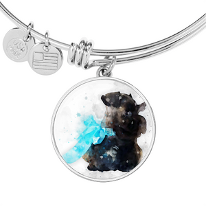 Custom Watercolor Art Your Pet Photo Charm Bracelet