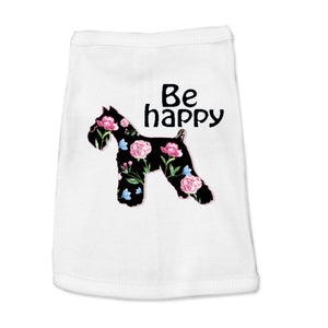 Optimistic Schnauzer Be Happy Doggy Tank Top