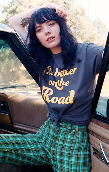 Grey It's Better On The Road Graphic Tee