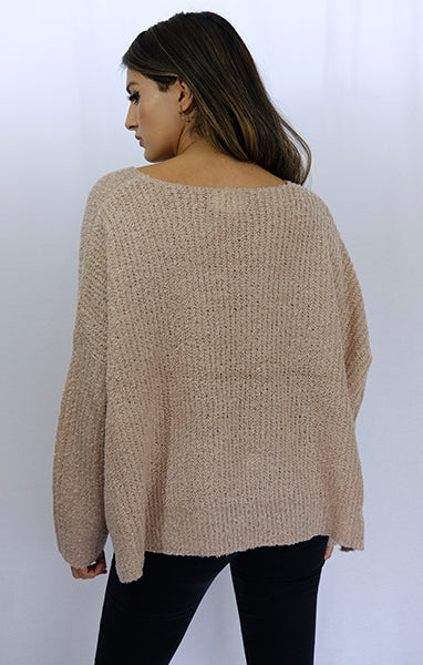 Blush Oversized Soft Knit Sweater