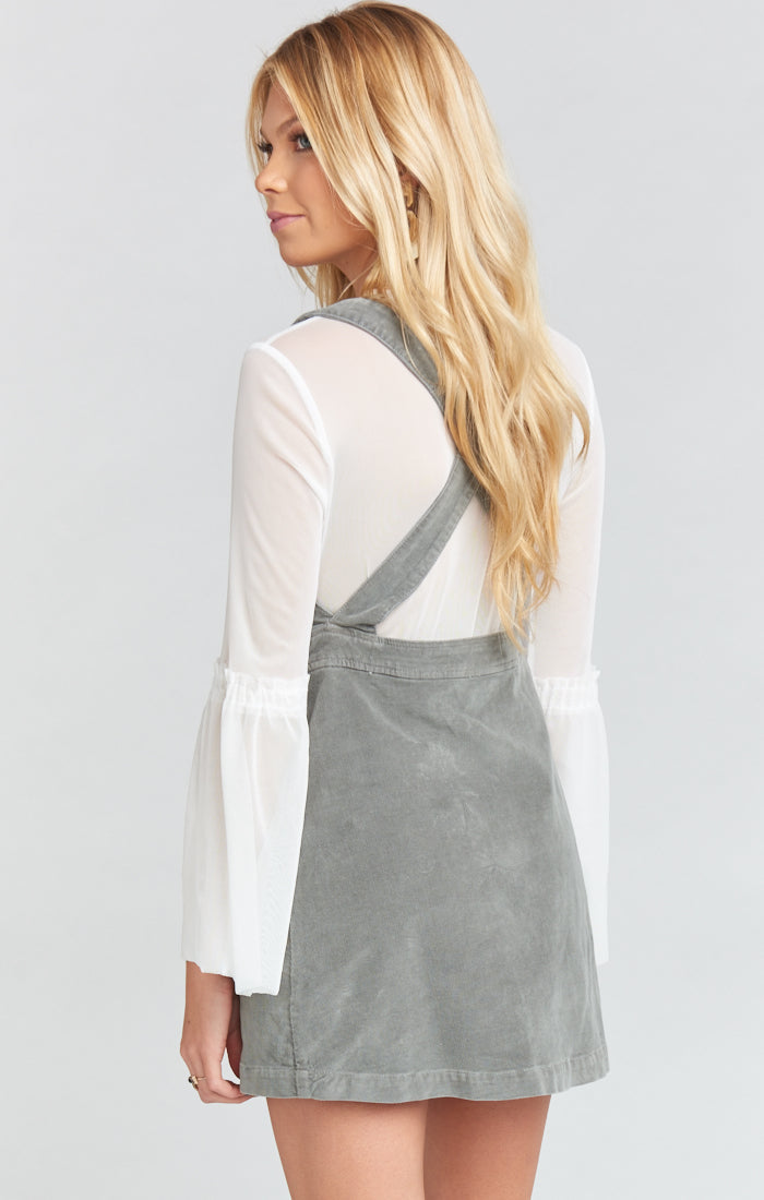 Connelly Stretch Corduroy Overall Dress Coastline Grey