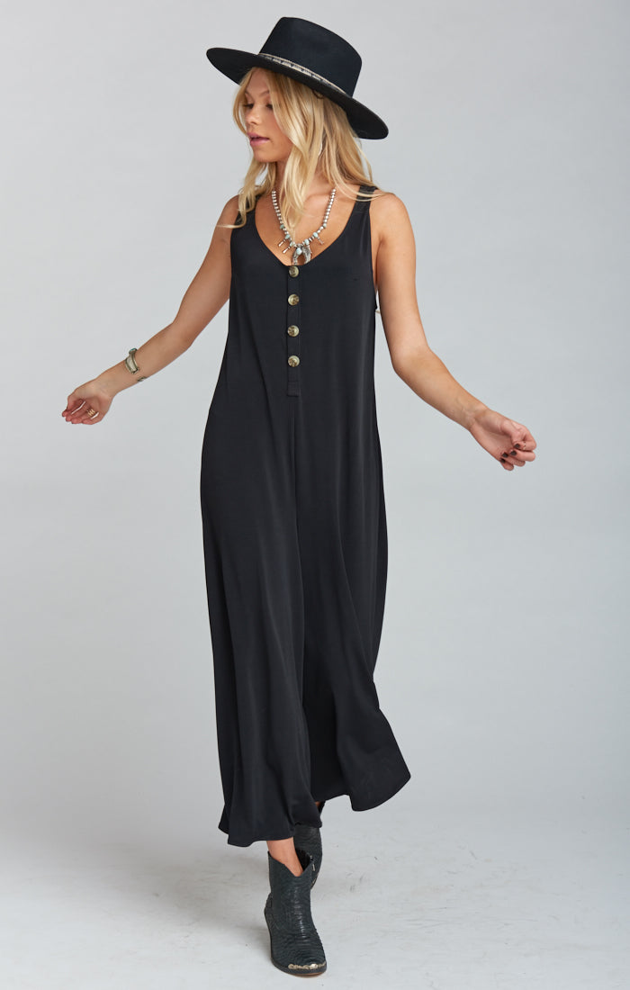 Goulding Black Spandy Jumpsuit