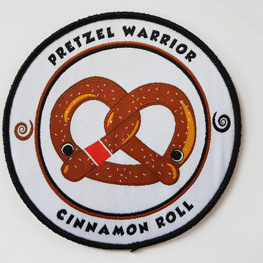 Cinnamon Roll's Pretzel Warrior Patch