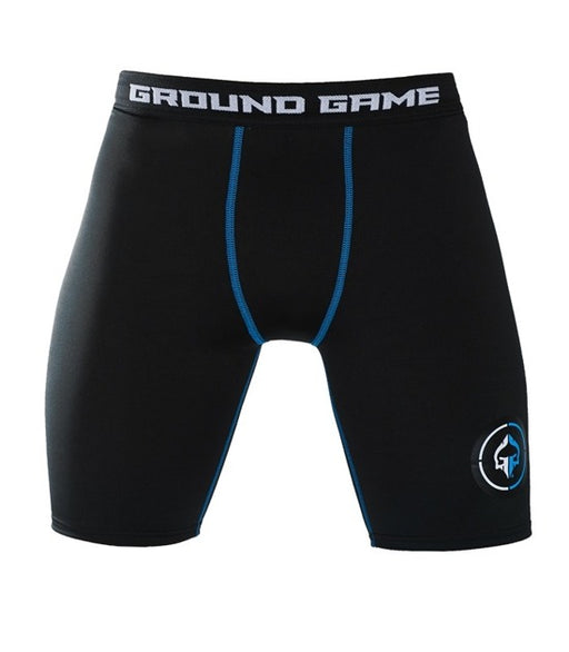 Front view of a Ground Game Athletic Vale Tudo Shorts