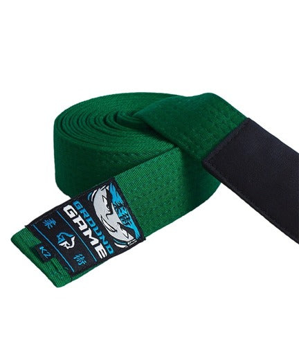 Ground Game BJJ Kids Belt Green