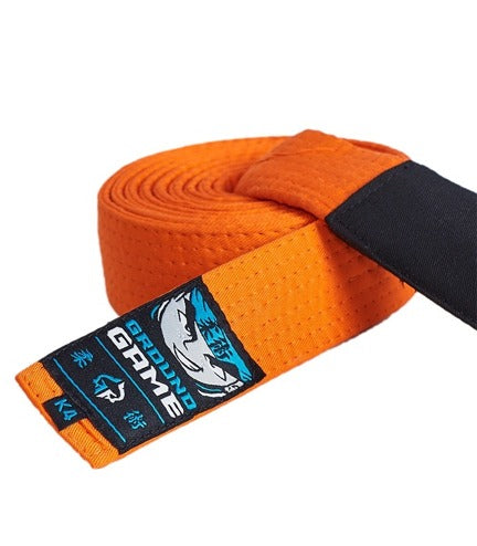 Ground Game BJJ Kids Belt Orange