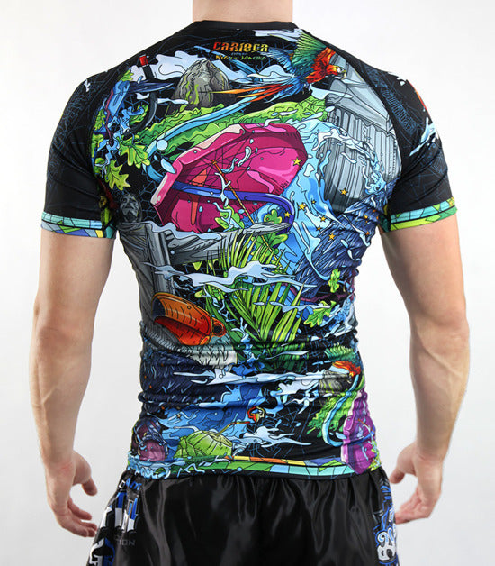 Back view of a Ground Game Carioca Rashguard