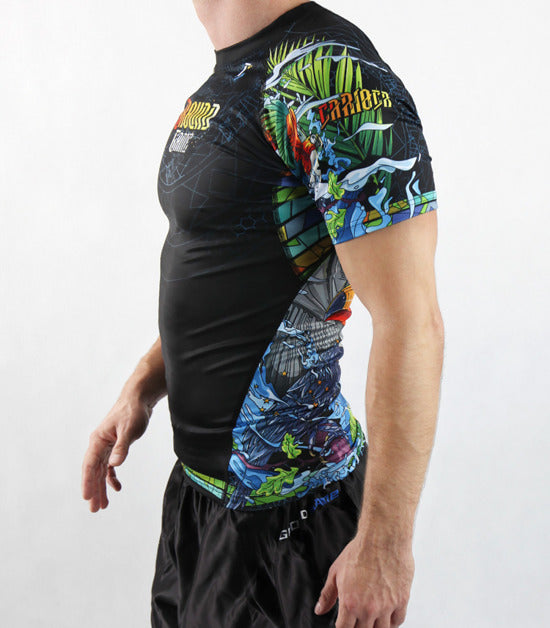 Right side view of a Ground Game Carioca Rashguard