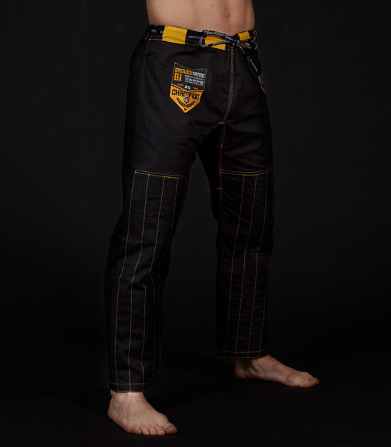 Pants of a Ground Game Champion 2.0 BJJ Gi Black