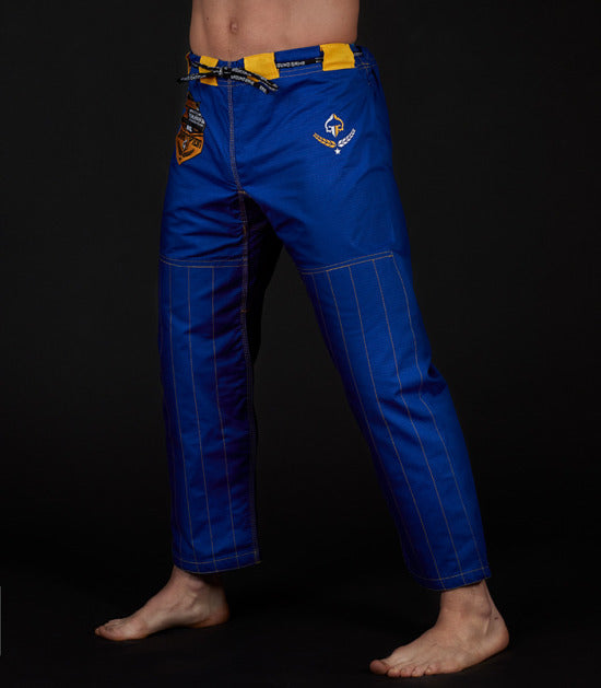 Pants of a Ground Game Champion 2.0 BJJ Gi Blue
