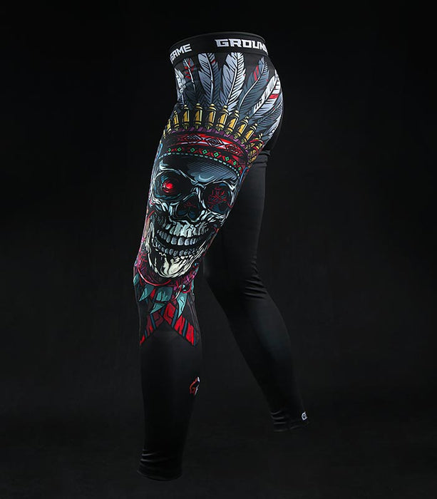 Ground Game Indian Skull Leggings