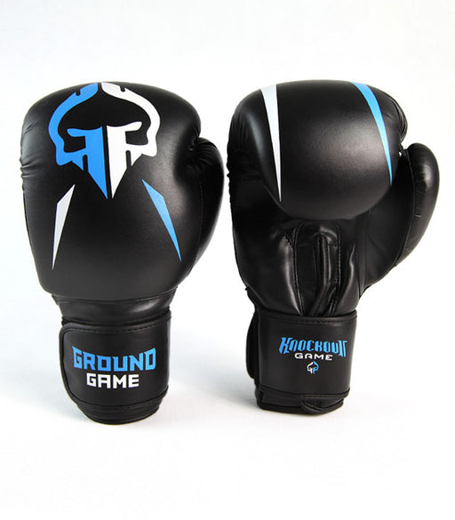 Front view of a Ground Game Logo Boxing Gloves