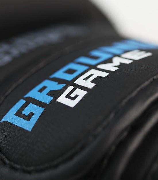 Details of a Ground Game Logo MMA Sparing Gloves