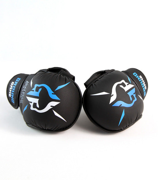 Side view of a Ground Game Logo MMA Sparing Gloves