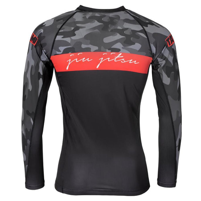 Tatami Red Bar Camo Rashguard Long Sleeve