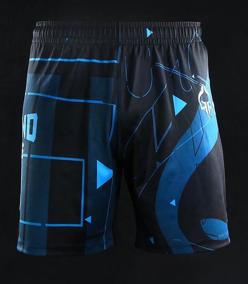 Front view of Ground Game Shapes Kids Training Shorts