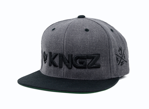 Kingz Logo Snapback Grey/Black