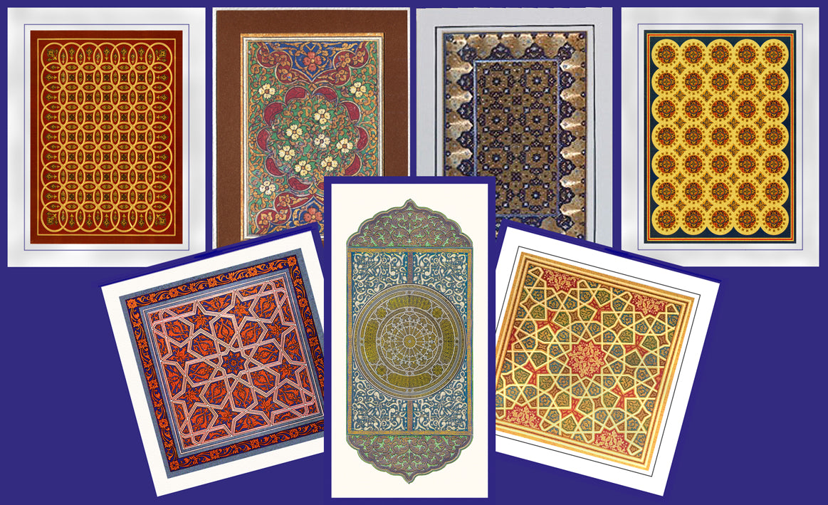 Greeting and letter cards based on art of the middle and near east.