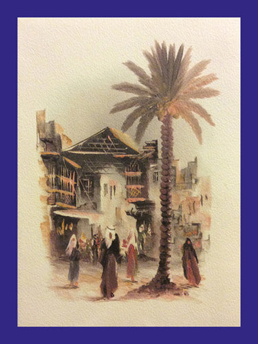 All in a Day Collection of Orientalist Art - AC1  (Pack of 5 cards and envelopes) - manara