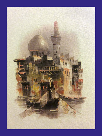 All in a Day Collection of Orientalist Art - AC3 (Pack of 5 cards and envelopes) - manara