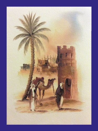 All in a Day Collection of Orientalist Art - AC4 (Pack of 5 cards and envelopes) - manara