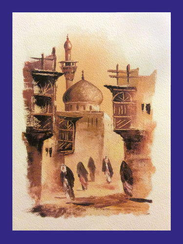 All in a Day Collection of Orientalist Art - AC5 (Pack of 5 cards and envelopes) - manara