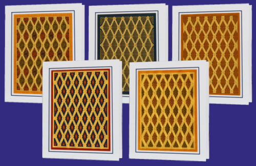 Baklava Collection of Arab and Islamic Art - BGCΩ complete (Pack of 5 cards and envelopes) - manara