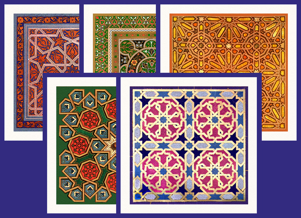 Concepts Collection of Arab and Islamic Art - CCCΩ complete (Pack of 5 cards and envelopes) - manara