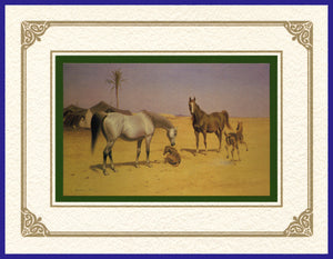 Desert Life Collection of Orientalist Art - DLC3 Playtime (Pack of 5 cards and envelopes) - manara