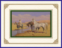 Load image into Gallery viewer, Desert Life Collection of Orientalist Art - DLC7 Morning Stroll (Pack of 5 cards and envelopes) - manara