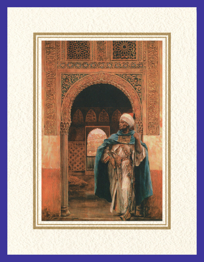 Mathaf Collection of Orientalist Art MC11 - Richard Caton Woodville - 'The Guard' (Pack of 5 cards and envelopes) - manara