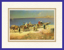 Load image into Gallery viewer, Mathaf Collection of Orientalist Art MC13 - Edmund Berninger - 'Caravan' (Pack of 5 cards and envelopes) - manara
