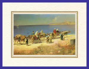 Mathaf Collection of Orientalist Art MC13 - Edmund Berninger - 'Caravan' (Pack of 5 cards and envelopes) - manara