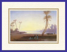 Load image into Gallery viewer, Mathaf Collection of Orientalist Art MC2 - Charles Theodore Frere - 'By an Oasis' (Pack of 5 cards and envelopes) - manara