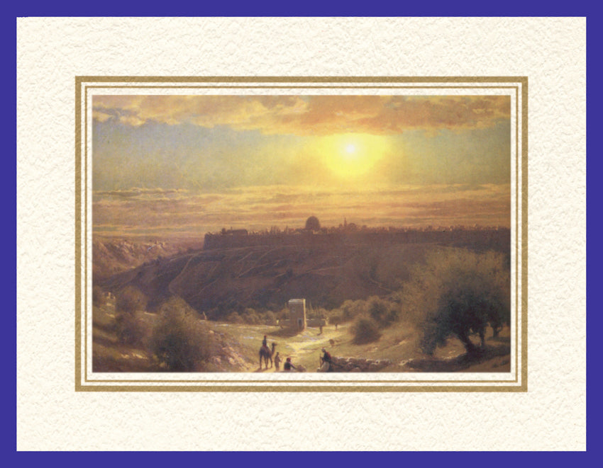 Mathaf Collection of Orientalist Art MC3 - James Fairman - 'Towards Sunset' (Pack of 5 cards and envelopes) - manara