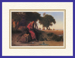 Mathaf Collection of Orientalist Art MC4 - Charles Theodore Frere - 'The Protector' (Pack of 5 cards and envelopes) - manara