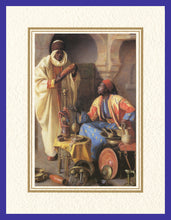 Load image into Gallery viewer, Mathaf Collection of Orientalist Art MC6 - Jean Discart - 'The Connoisseur' (Pack of 5 cards and envelopes) - manara