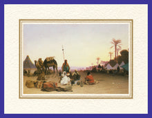 Load image into Gallery viewer, Mathaf Collection of Orientalist Art MC9 - Charles Theodore Frere - 'Halte d'une Caravane' (Pack of 5 cards and envelopes) - manara
