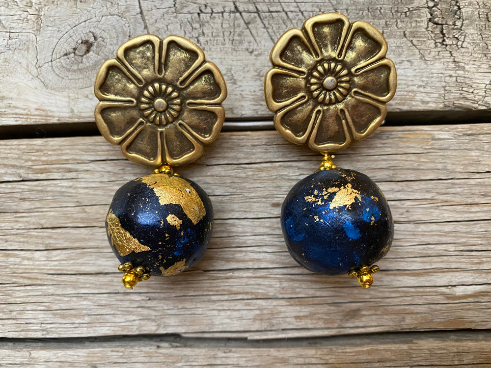 Night Sky Globe Earrings