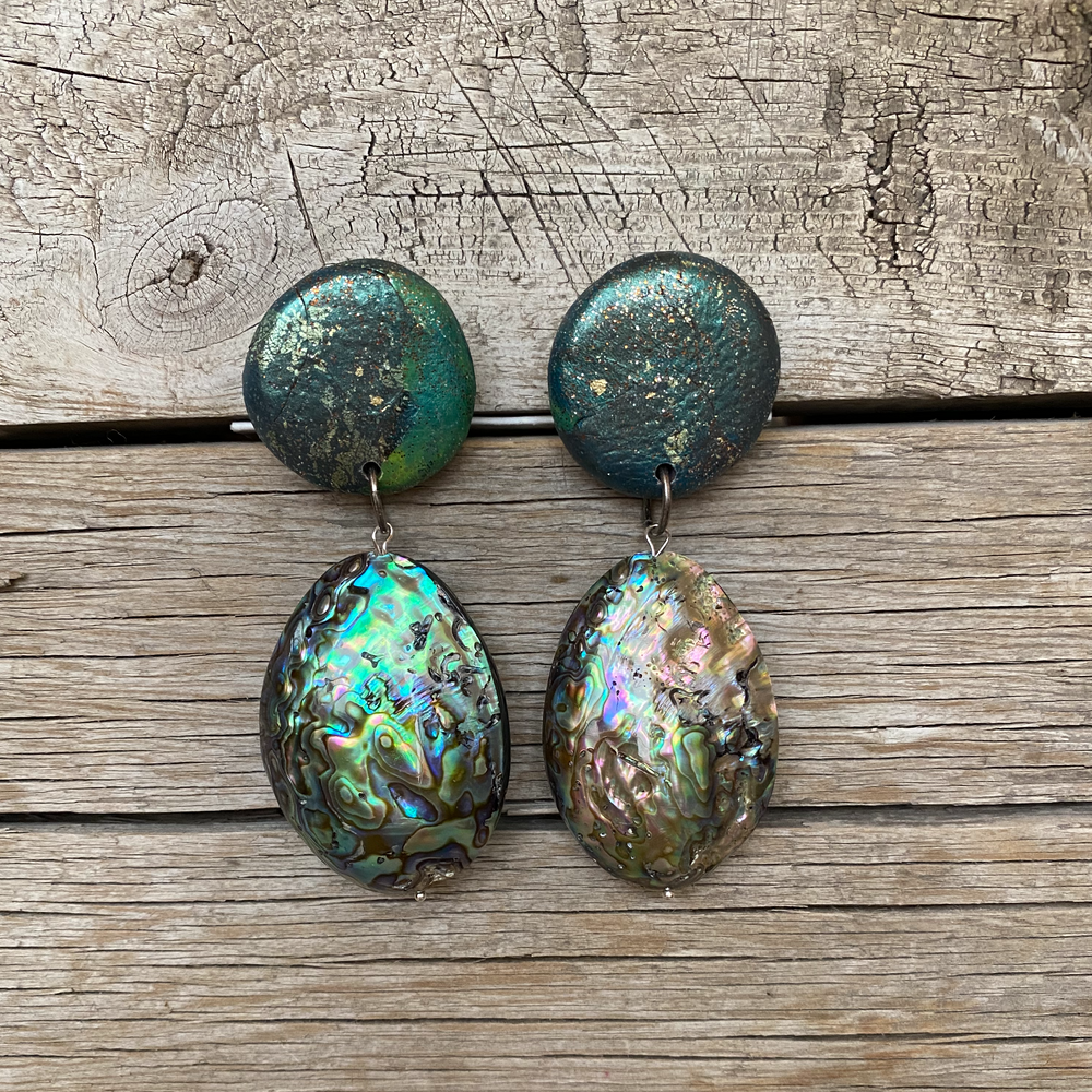 Abalone Pillow Earrings