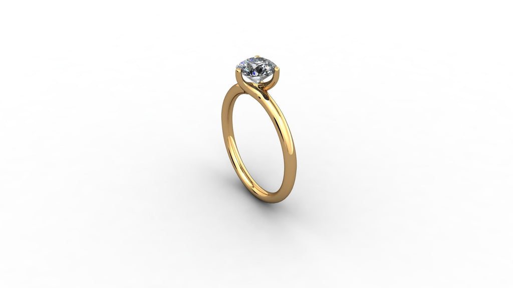 18Ct Solitaire Diamond Ring