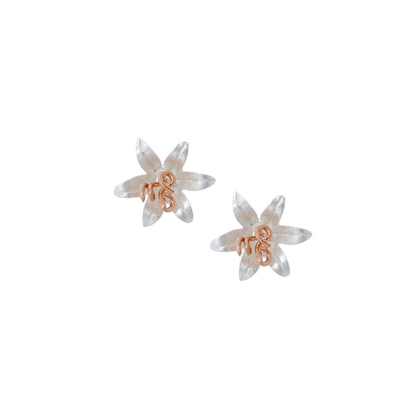 Sterling silver earrings with rose gold plate