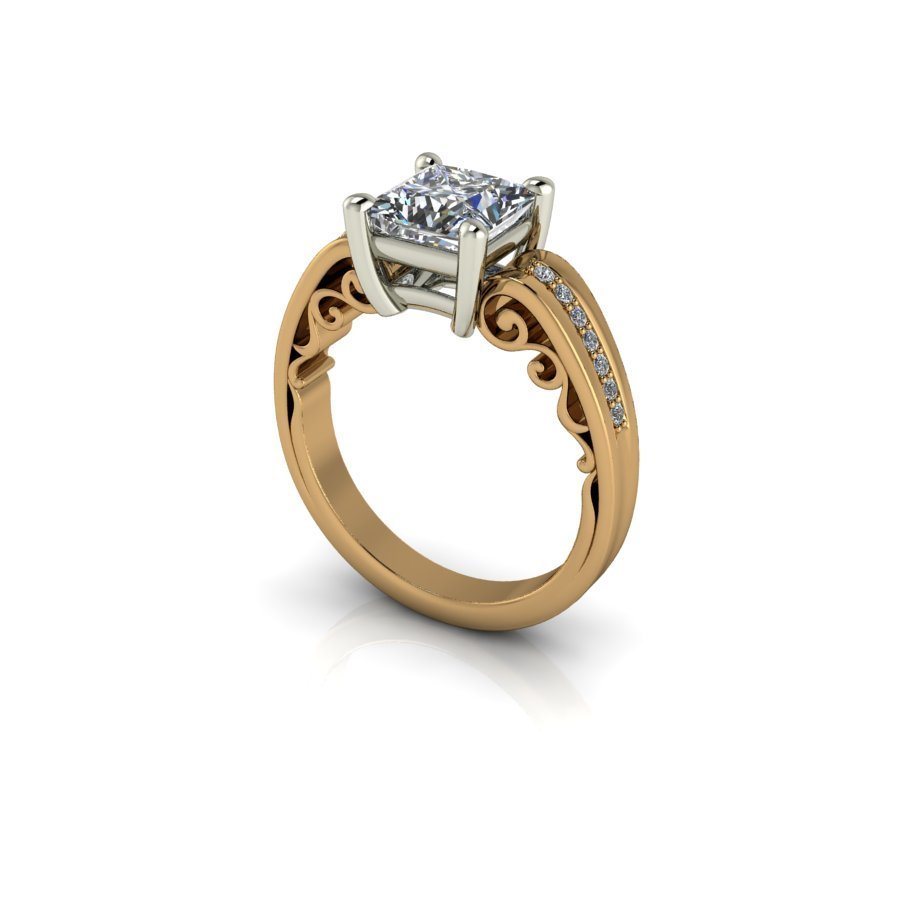 18ct yellow gold ring.