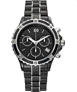 Danish Design Ceramic + stainless steel mens watch