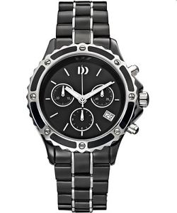 Danish Design Ceramic + stainless steel mens watch.