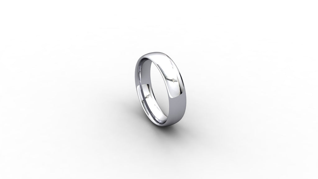 Platinum Court shaped wedding band
