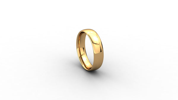 9ct yellow gold Court shaped wedding band