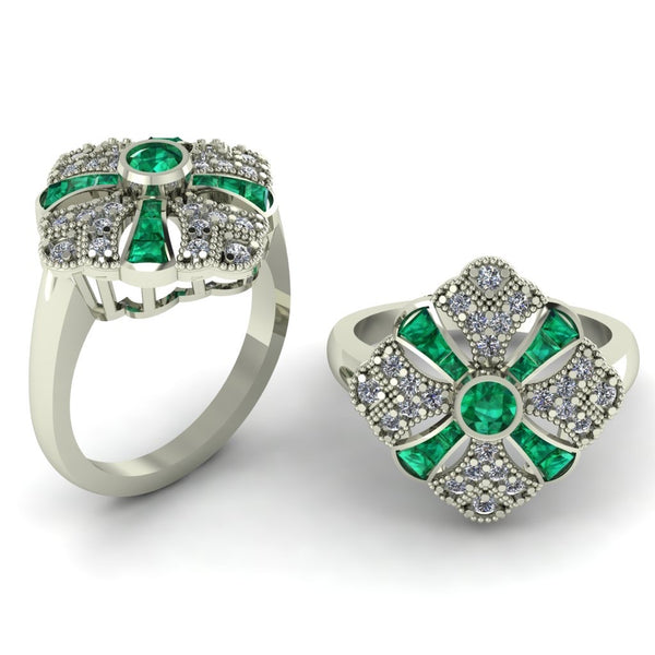 18ct diamonds and emeralds