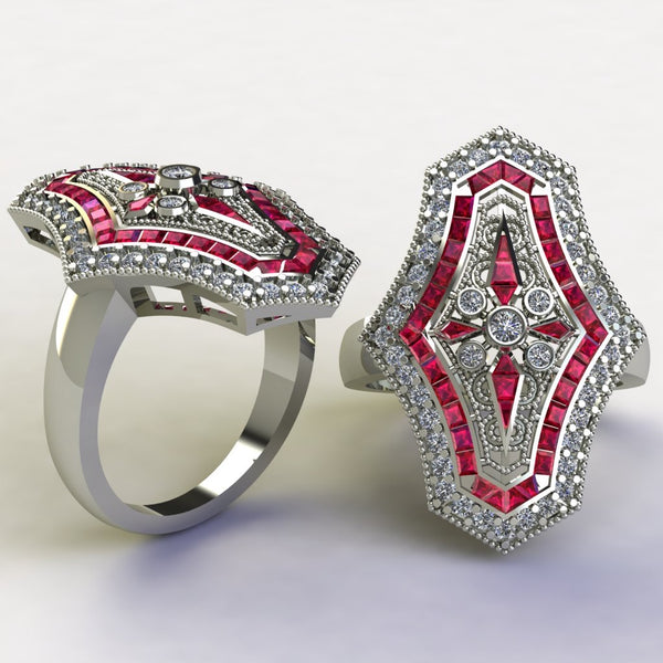 Ruby and diamonds
