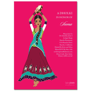 Online Dholki Bridal Shower Invitations
